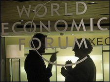 Delegates at World economic forum in Davos