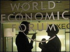 Delegates at World economic forum in Davos