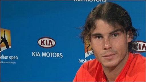 World tennis number two Rafael Nadal