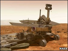 Artist's impression of rover on Mars (Nasa)