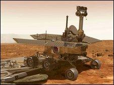 Artist's impression of rover on Mars (Nasa)
