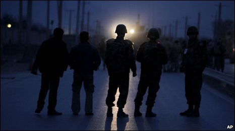 Nato-led soldiers in Kabul, 26 January, 2010