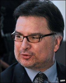 Alfonso Portillo in court in Guatemala City (2008)