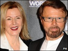 Abba's Bjorn Ulvaeus and Frida Lyngstad