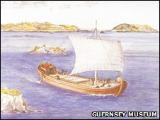 Artists impression of Asterix off Guernsey