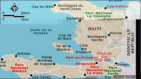 A map of Haiti