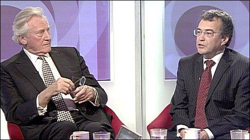 Lord Heseltine and Phil Woolas