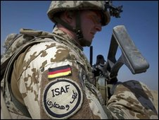 German sodier in Afghanistan