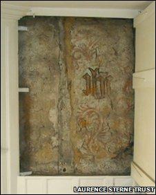Rare wall painting at Shandy Hall