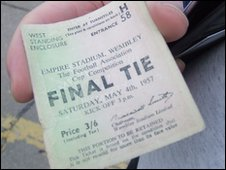 1957 Cup Final ticket