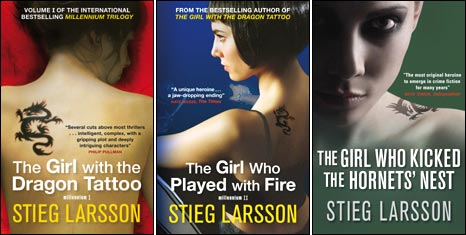 UK covers of the Millennium trilogy