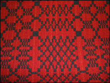 Stair carpet woven at Pandy Parc, Anglesey