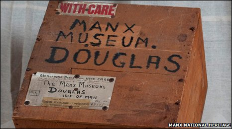 Wooden crate: Manx National Heritage