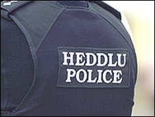 Part of North Wales Police uniform