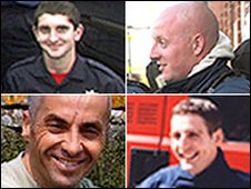 Clockwise from top left: Ashley Stephens, Darren Yates-Badley, Ian Reid, John Averis