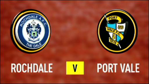 Rochdale 0-0 Port Vale