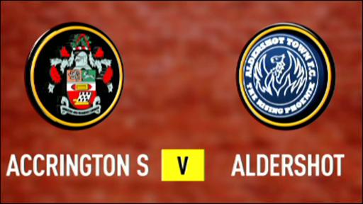 Accrington Stanley 2-1 Aldershot
