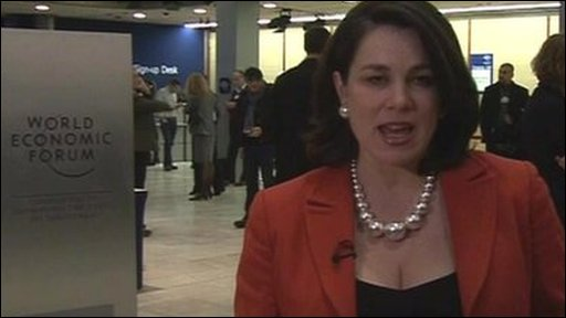 The BBC's Tanya Beckett at the World Economic Forum in Davos, Switzerland