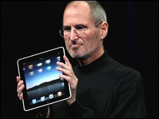 Steve Jobs with the new iPad