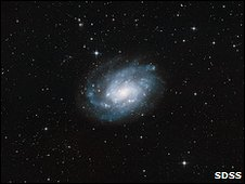 The spiral galaxy NGC 300 (SDSS)