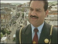 Councillor Raja Saleem when he was mayor in 1999