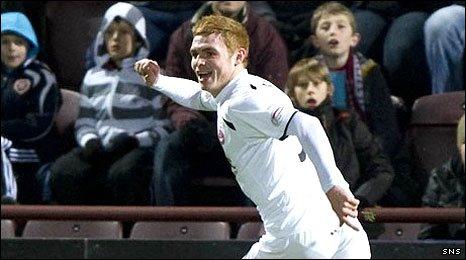 Fraser Fyvie celebrates his first Aberdeen goal