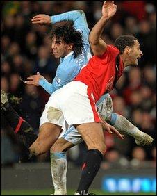 Carlos Tevez and Rio Ferdinand