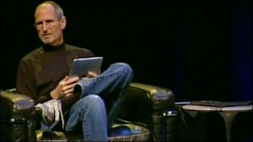 Apple chief executive Steve Jobs unveils the iPad