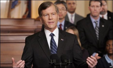 Virginia Governor Bob McDonnell delivering the Republican response