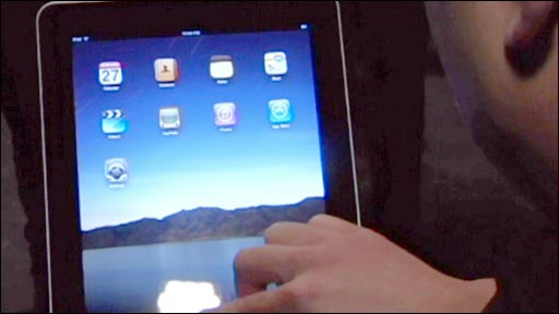 Man using the iPad