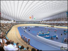 Artists impression of velodrome