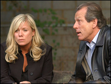 Sharon Watts (Letitia Dean) and Dirty Den (Leslie Grantham)