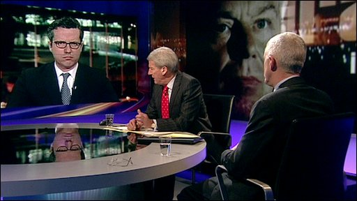 Carne Ross, Jeremy Paxman and Lance Price