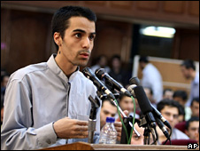 Arash Rahmanipour in court (8 August 2009)