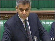 Transport Minister Sadiq Khan