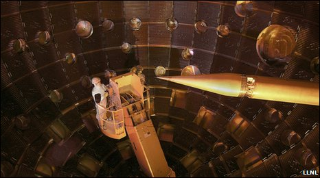 NIF target chamber (LLNL)