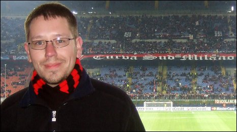 Mark Boden inside the San Siro
