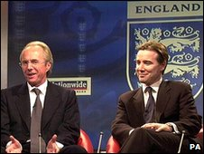Sven-Goran Eriksson and Adam Crozier