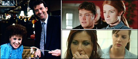 A selection of past and present EastEnder cast members