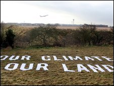 Land bought by a Greenpeace coalition to block Heathrow airport expansion
