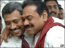 Gotabaya Rajapaksa (left) and Mahinda  Rajapaksa