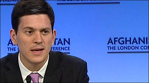 UK Foreign Secretary David Miliband