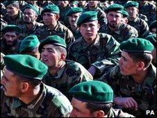 Afgan army training centre in Kabul