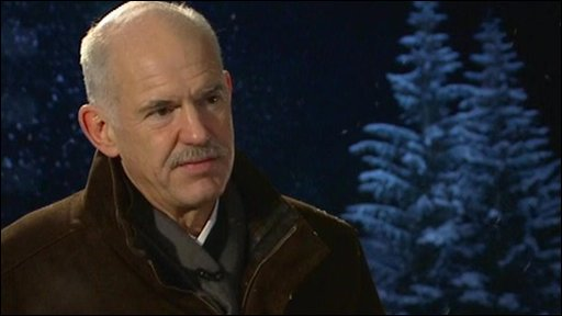 "Greece's PM George Papandreou: ""The European Union is not going to bail us out"""