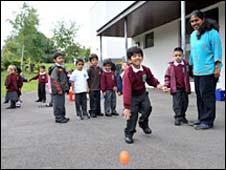 Pupils at Krishna-Avanti Hindu school in north London