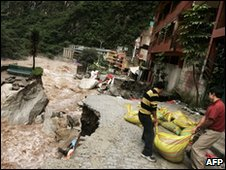 Aguas Calientes in Peru, 28 Jan