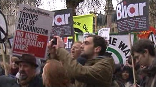 Blair protests