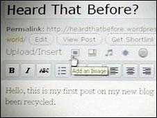 Adding an image to a Wordpress blog page