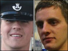 Rifleman Peter Aldridge and L/Cpl Daniel Cooper