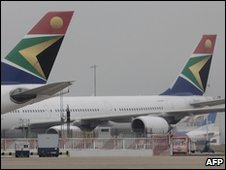 South African Airways planes (file photo)
